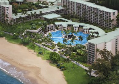 ocean side resort and pool